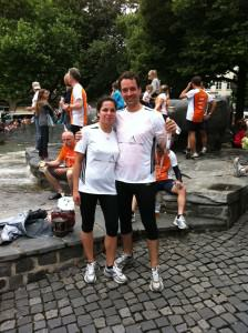 Nach dem Halbmarathon - Stadtlauf München 2011