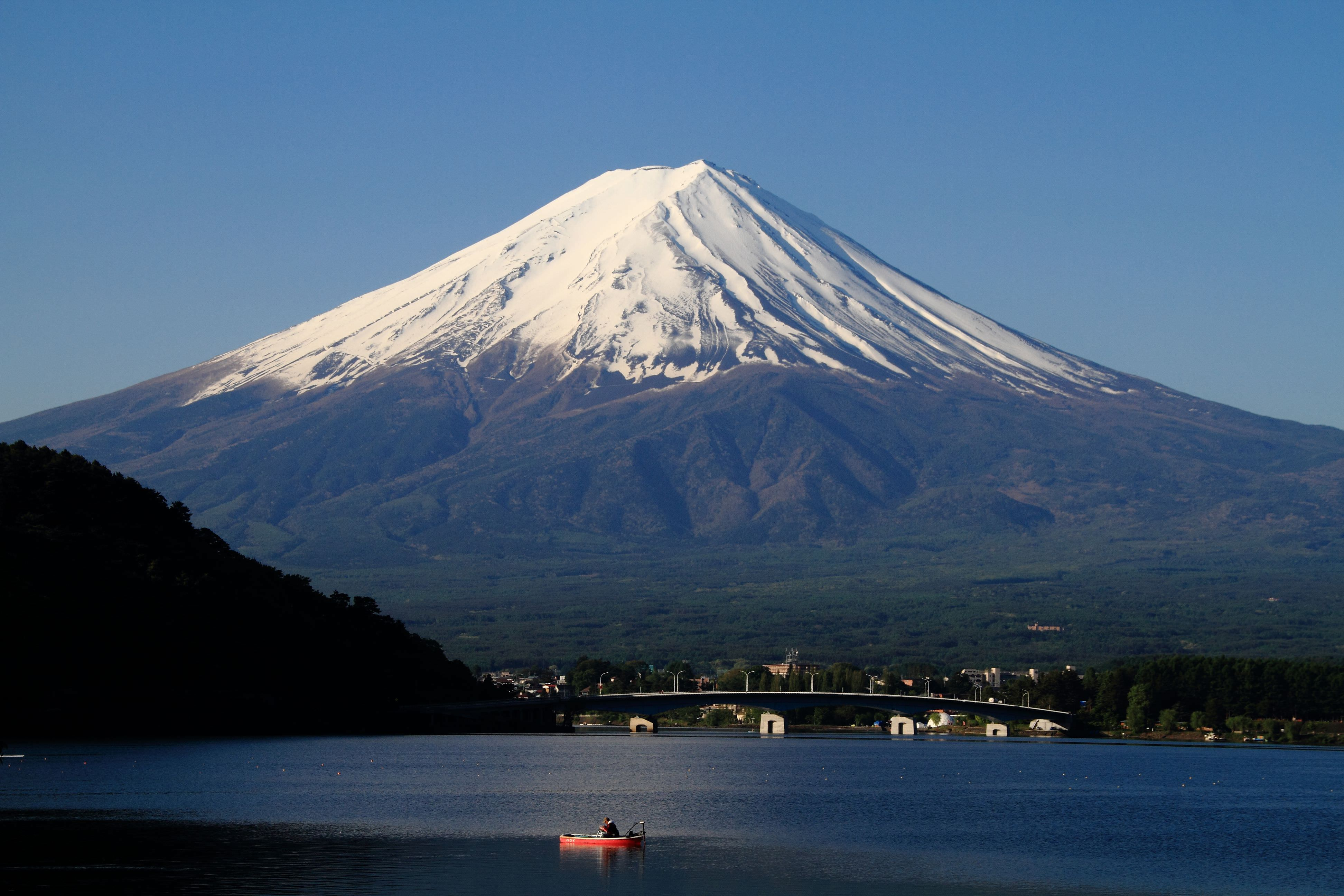 mount fuji Mount fuji facts - mount fuji, with an elevation of more than 12,388 feet, is the highest and the most famous mountain in japan.